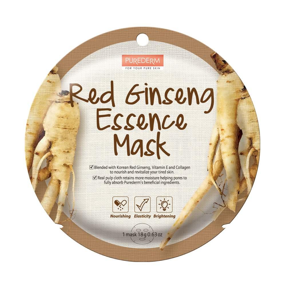 Ginseng élénkítő-hidratáló fátyolmaszk - PureDerm Red Ginseng Essence mask