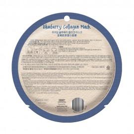 Kékáfonya bőrfeszesítő fátyolmaszk -PureDerm Blueberry Collagen Mask