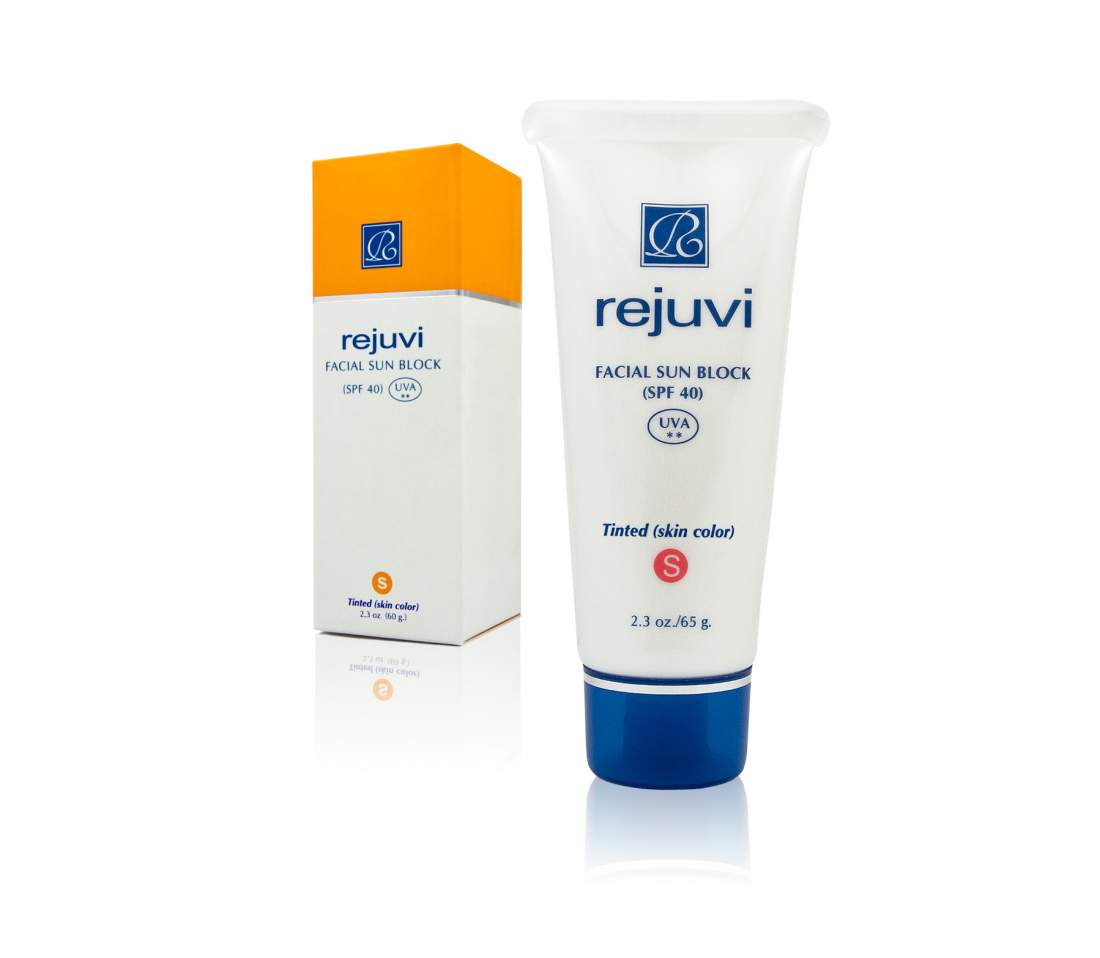Színezett fényvédő krém SPF40 UVA/UVB - Rejuvi Facial Sun Block Tinted-SPF4