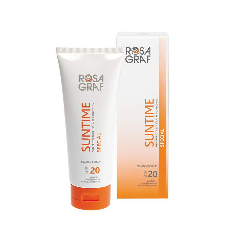 Speciális fényvédő arcra és testre SPF20 - Rosa Graf Suntime Special
