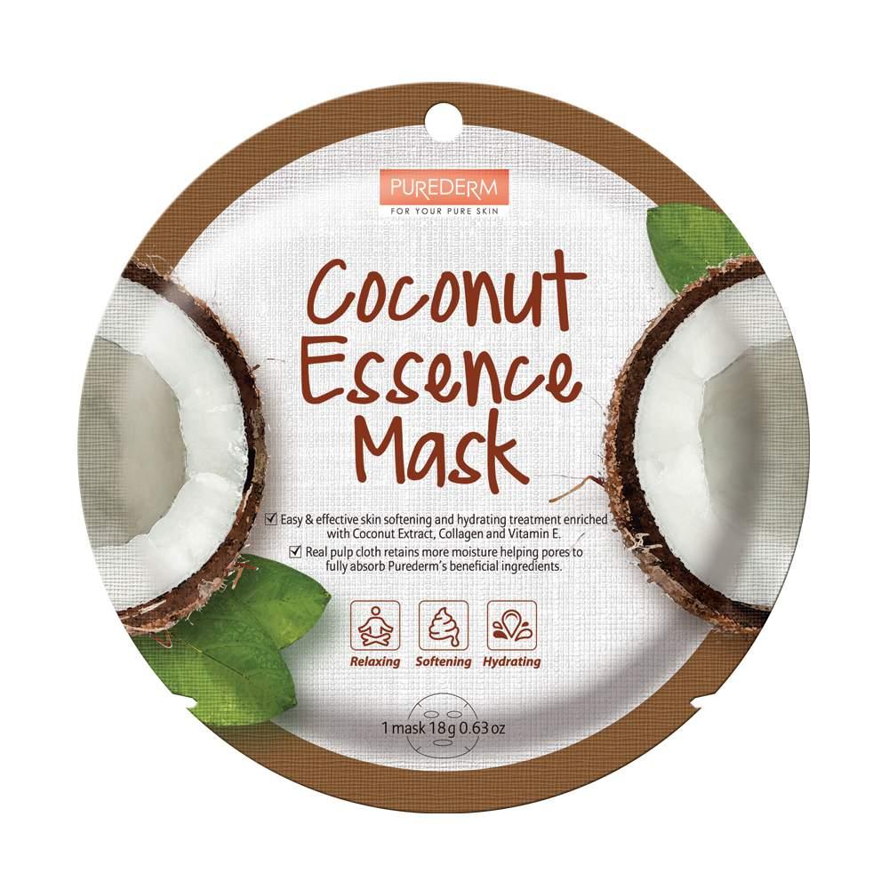 Kókusz hidratáló fátyolmaszk-PureDerm Coconut Essense Mask