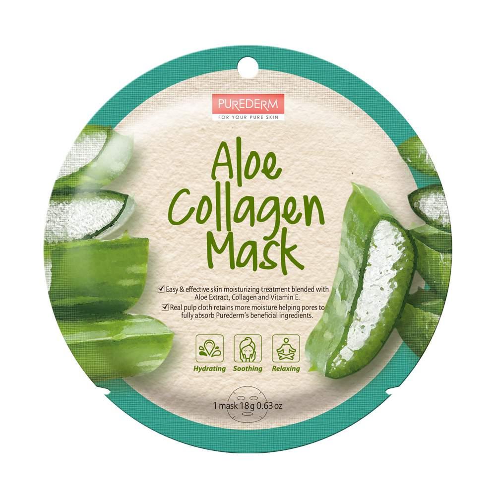 Aloe Vera hidratáló fátyolmaszk - PureDerm Aloe Collagen Mask