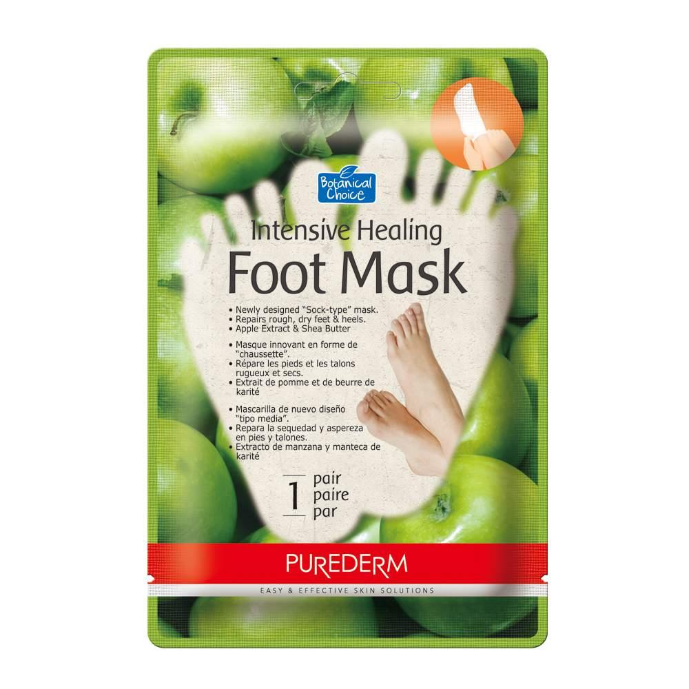 Bőrpuhító almás lábmaszk 1 pár - PureDerm Apple Foot Mask