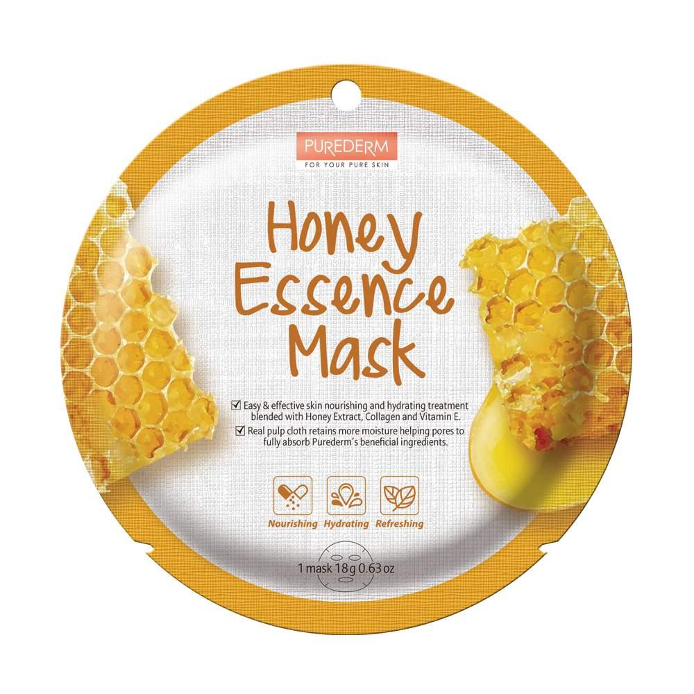 Méz tápláló-hidratáló fátyolmaszk - PureDerm Honey Essence Mask