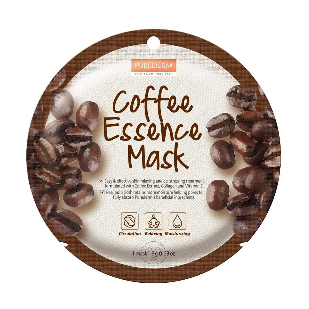Keringésjavító és antistressz fátyolmaszk - PureDerm Coffe Mask