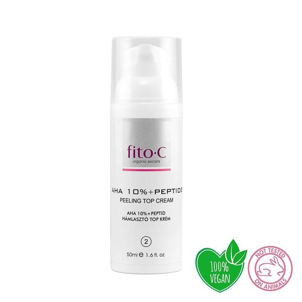 AHA 10% peptid hámlasztó krém II.FÁZIS -fito.C-AHA10%+Peptide Peeling TOP Cream
